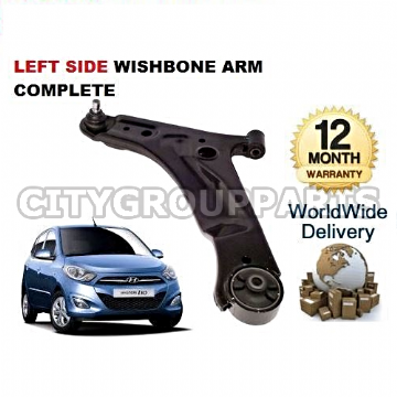 HYUNDAI i10 2008 TO 2014 LEFT SIDE LOWER SUSPENSION WISHBONE ARM WITH BALL JOINT